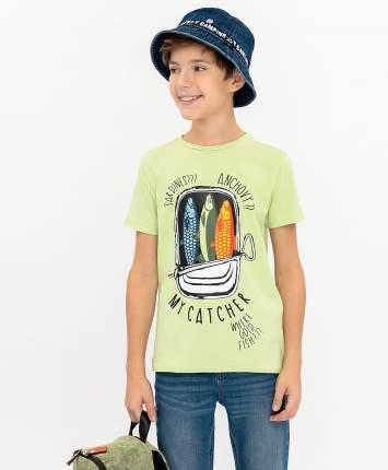 Футболка для мальчиков Button Blue, цв. салатовый, р-р 158