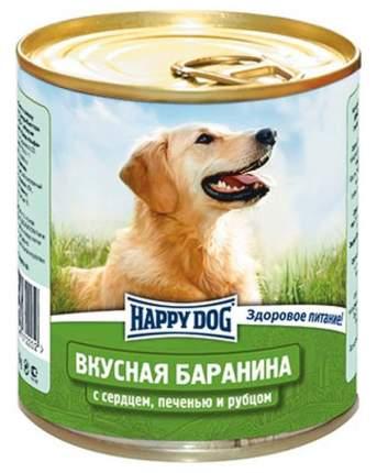 Консервы для собак Happy Dog Вкусная Баранина, с сердцем, печенью и рубцом, 12шт по 750г