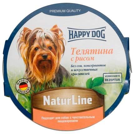 Консервы для собак Happy Dog NaturLine, паштет с телятиной и рисом, 11шт по 85г