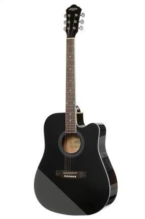 Гитара акустическая со встроенным эквалайзером Caravan Music Hs-4111bk Eq