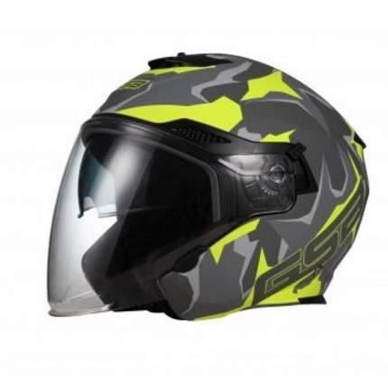 Шлем GSB G-263 Grey Matt/Yellow, размер 2XL
