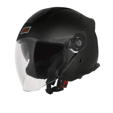 Шлем (открытый со стеклом) Origine Palio Solid черный глянцевый, размер M