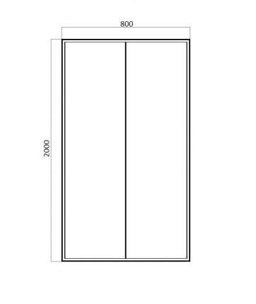 Душевая дверь в нишу Bravat Drop 80x200 складная BD080.4120A