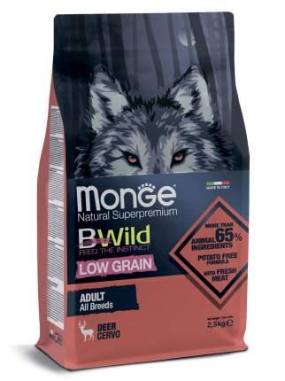 Сухой корм для собак Monge Dog BWild Low Grain низкозерновой из мяса оленя 2.5кг