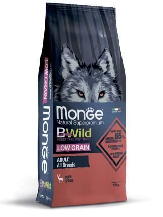 Сухой корм для собак Monge Dog BWild Low Grain низкозерновой из мяса оленя, 12кг
