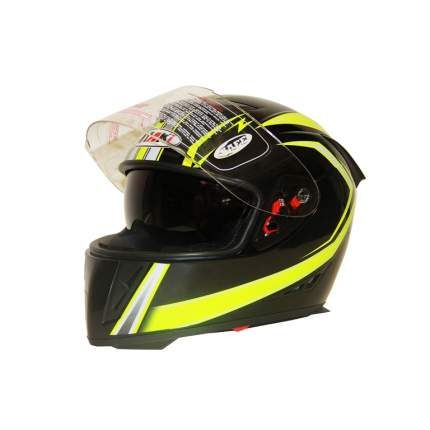 Шлем (интеграл) Ataki FF311 Trace черный/желтый глянцевый, размер M