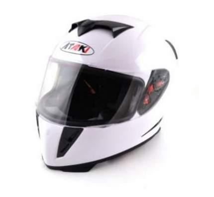 Шлем (интеграл) Ataki FF311 Solid белый глянцевый, размер L