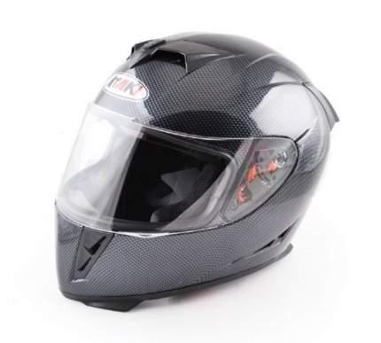 Шлем (интеграл) Ataki FF311 Carbon черный/серый глянцевый, размер XL