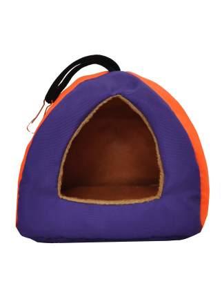 Домик для грызунов Монморанси Пирамидка, маленький, сине-оранжевый, 10х10х10 см