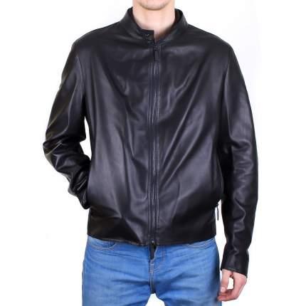 Кожаная куртка мужская Baldinini N0661 черная 58 RU