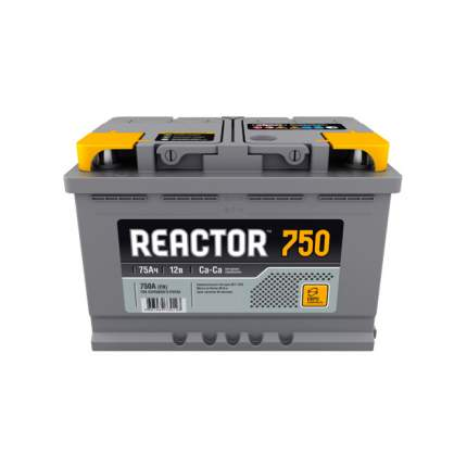 Аккумулятор REACTOR 75 А/ч обратная R+ EN 750A 278x175x190 6CT-75.0