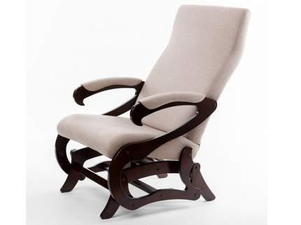 Кресло-слайдер Сиена б/вставки ткань серый, каркас орех/5648