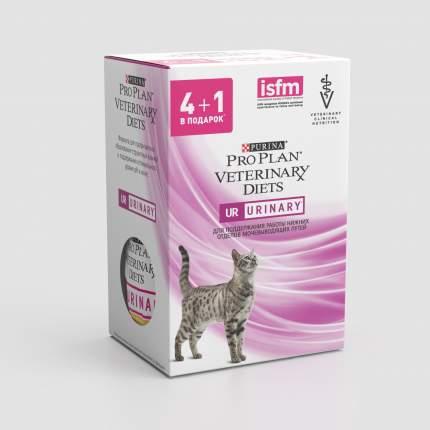 Влажный корм для кошек Pro Plan Veterinary Diets UR St/Ox Urinary, с курицей, 5шт по 85г