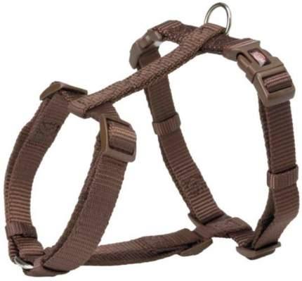 Шлейка для собак TRIXIE Premium H-Harness, XL, нейлон, пластик, коричневый, 75–120см/25мм