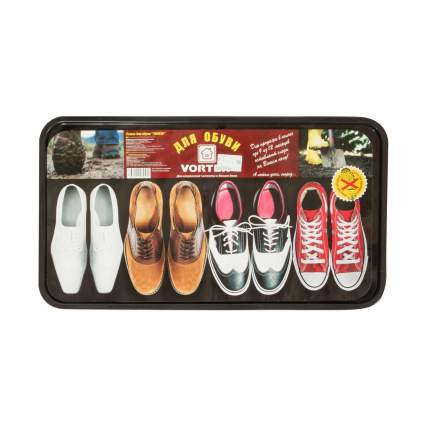 Лоток для обуви VORTEX 63,5х35,4х1,3см черный