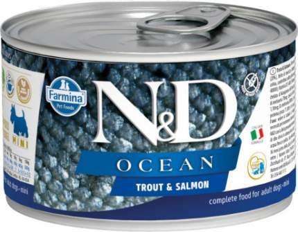 Влажный корм для собак Farmina N&D Ocean , форель, лосось, 140г