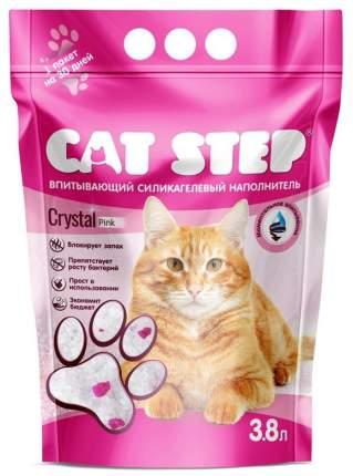 Впитывающий наполнитель для кошек Cat Step Crystal Pink силикагелевый, 3.8 л, 1,67 кг