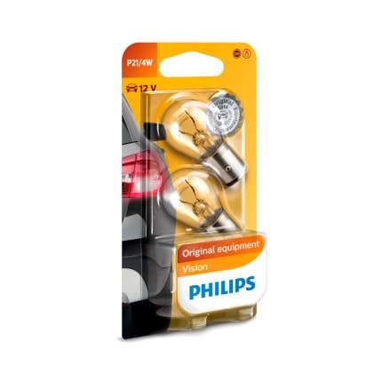 Лампа 12V P21/4W 21/4W PHILIPS Premium 2 шт. блистер 12594B2