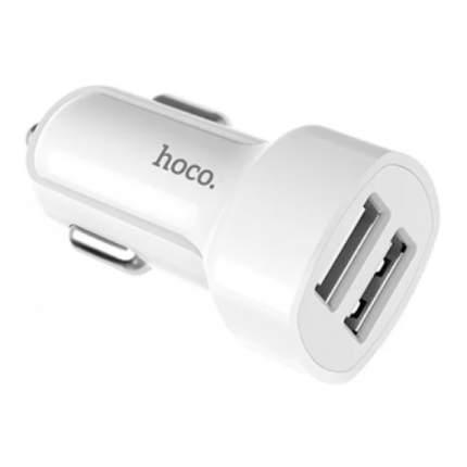 Автомобильное зарядное устройство Hoco Z2 с кабелем Lightning (Белый)