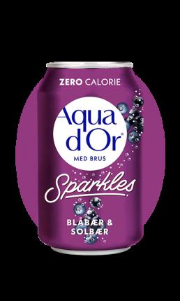 Напиток Aqua d Or Blaber and Solber черника и черная смородина 330 мл Упаковка 24 шт