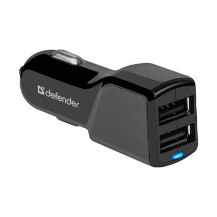 Автомобильный адаптер питания Defender UCA-34 зарядка 3.4А 2 USB-порта, чёрный