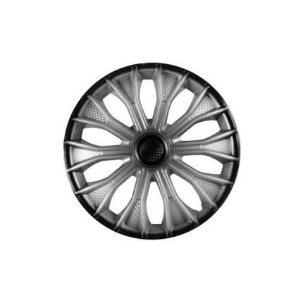 Колпаки Колесные 16 Волтек Серебристо-черн Карбон Компл. 2 Шт. AIRLINE awcc-16-15