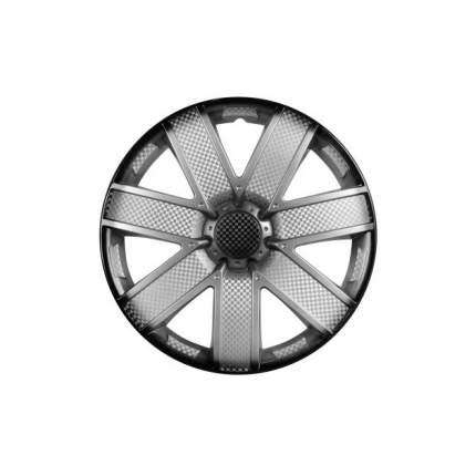 Колпаки на колеса Airline Гелакси R15 серебристо-черныйй карбон 2 шт. AWCC1520