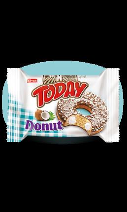 Кекс Today Donut вкус кокос 50 грамм Упаковка 24 шт