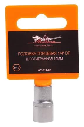 """Головка торцевая 1/4"""" DR шестигранная 10мм AIRLINE AT-S14-06"""