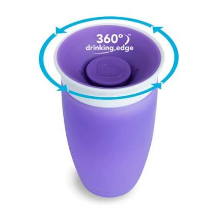 Поильник-непроливайка Munchkin Miracle 360° фиолетовый, 296 мл, 12м+