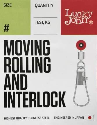 Вертлюги с застежкой LH скользящие Lucky John Moving Rolling And Interlock 20 кг L