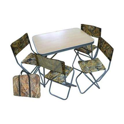 Туристический стол со стульями Смаз Алабия Пикник коричневый