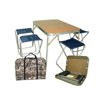 Туристический стол со стульями Смаз Автотурист-Титан коричневый