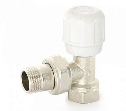 Вентиль ручной угловой HВ 3/4 никелированный с разъёмным соединением Uni-Fitt 155N3000