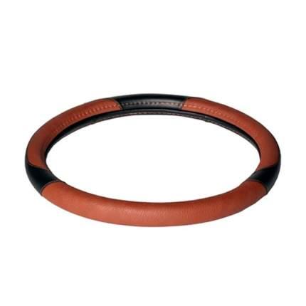 Оплетка на руль, искусственная кожа, коричневая/черная, 40 см / L AIRLINE AWC-CM-05L