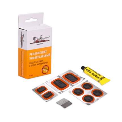 Набор для ремонта камер (заплатки 25x25 52x32 35x24 н/ж бумага клей-акт-р) AIRLINE ATRK-6