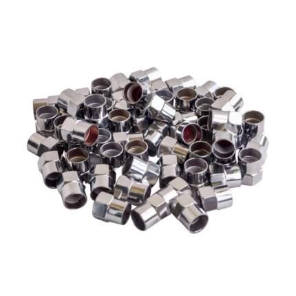 Колпачки на шинный вентиль, шестигранные, пластик, цвет хром (60 шт.) AIRLINE AVC-60-03