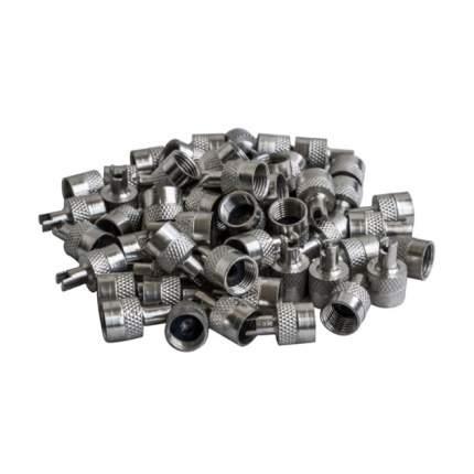 Колпачки на шинный вентиль с ключом, хром, металл (60 шт.) AIRLINE AVC-60-04