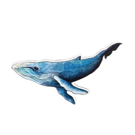 Значок Kawaii Factory KW088 Синий кит синий