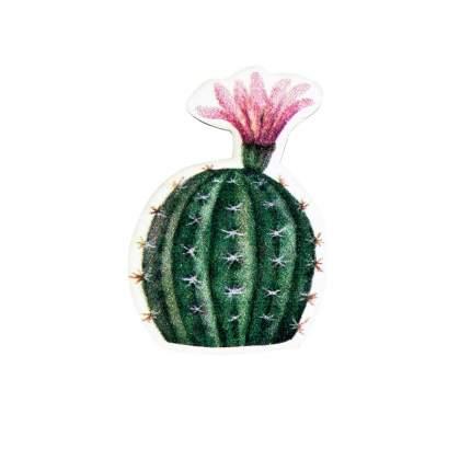 Значок Kawaii Factory KW088 Кактус с цветком зеленый