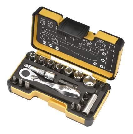 Набор бит Felo SL/PZ/PH и головок с мини трещоткой в кейсе, 18 шт 05771806