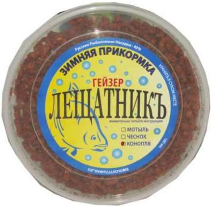 Прикормка Зимняя гейзер ЛЕЩАТНИК в гранулах с запахом чеснока, 180 г