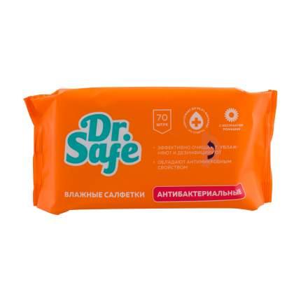 Влажные антибактериальные салфетки для рук DR.SAFE Ромашка 70 шт