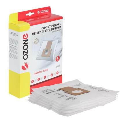 Мешки-пылесборники Ozone синтетические 5 шт для пылесоса THOMAS TWIN PANTHER