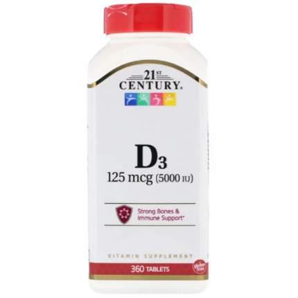 Витамин D3 21st Century D3 5000 IU 360 таблеток