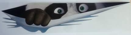 Наклейка светоотражающая Mashinokom Панда выглядывает разм.9,5*40см NKT 7702