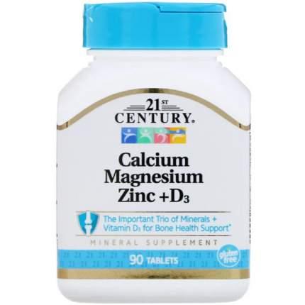 Витаминно-минеральный комплекс 21st Century Calcium Magnesium Zinc 90 таблеток