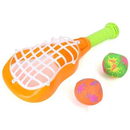 Ракетка с мячиками Veld цв. оранжевый, 67918