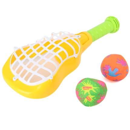 Ракетка с мячиками Veld цв. желтый, 67918