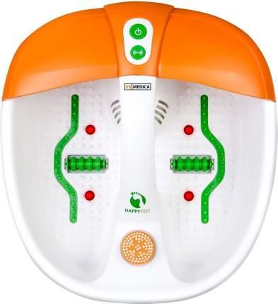 Массажная ванночка для ног US Medica Happy Feet белая/оранжевая